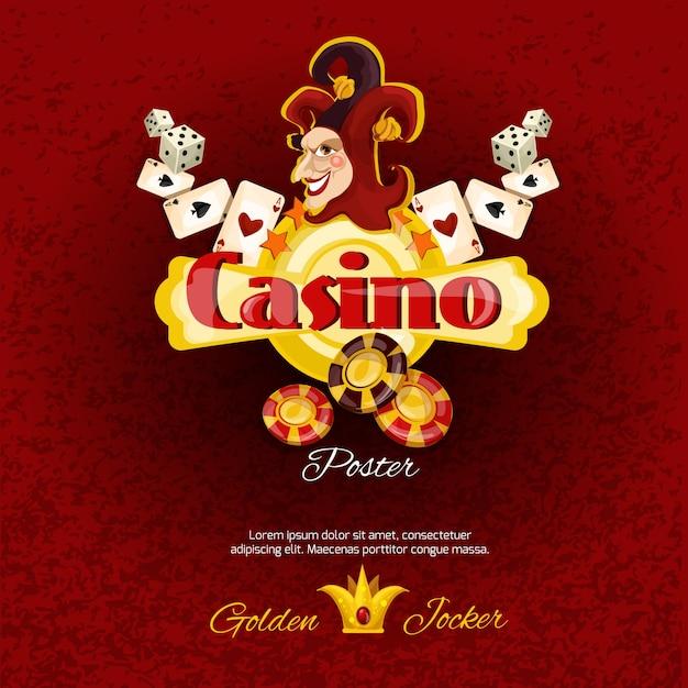 Casino poster illlustration Gratis Vector