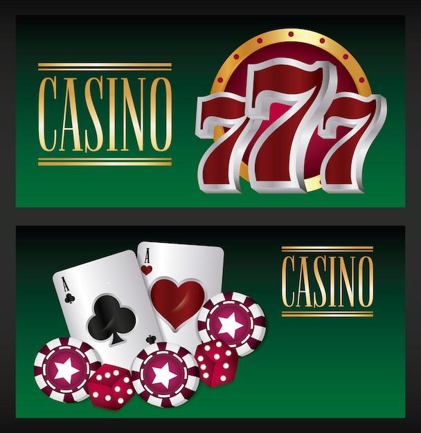 Casino spel Gratis Vector
