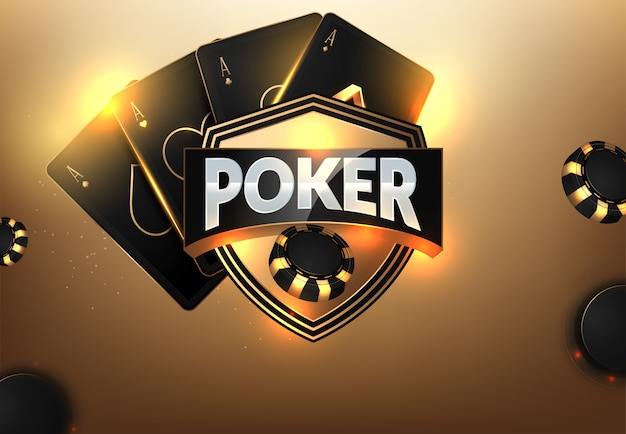 Casinospaanders, kaarten en plaats voor tekst Premium Vector