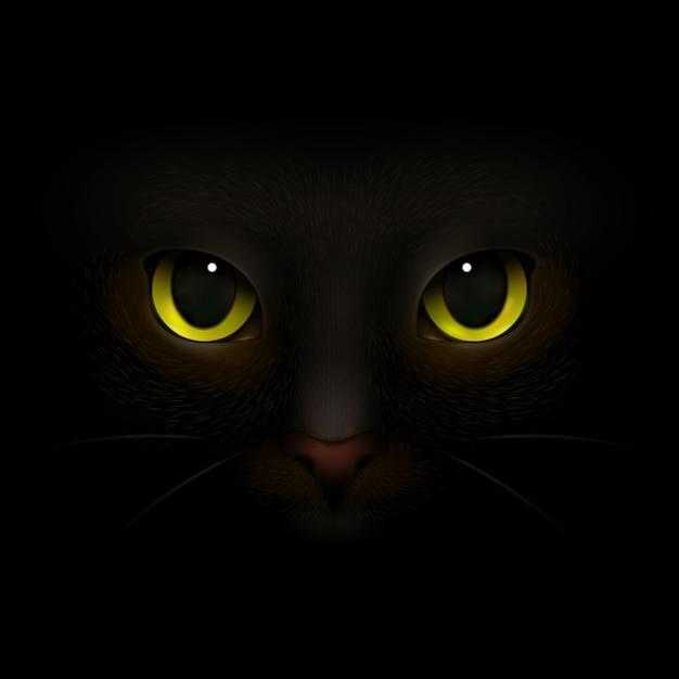 Cat monster realistische samenstelling Gratis Vector