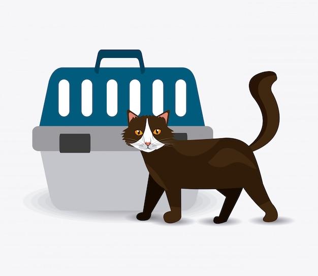 Cat ontwerp. Premium Vector