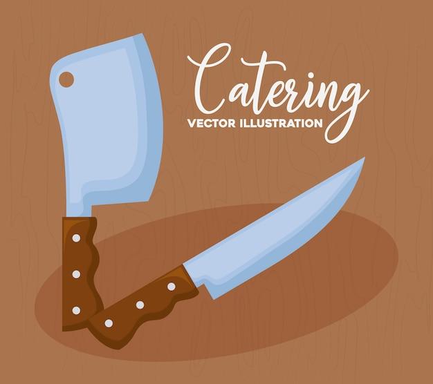 Catering concept Gratis Vector
