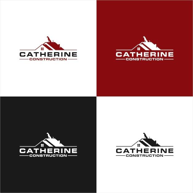 Catherine logo real estate Premium Vector