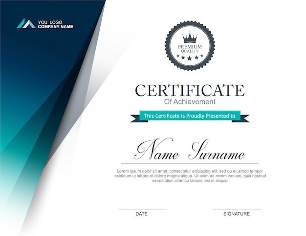 Certificaat ontwerpsjabloon Premium Vector