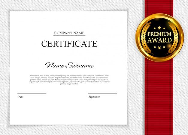 Certificaatsjabloon. award diploma leeg. Premium Vector