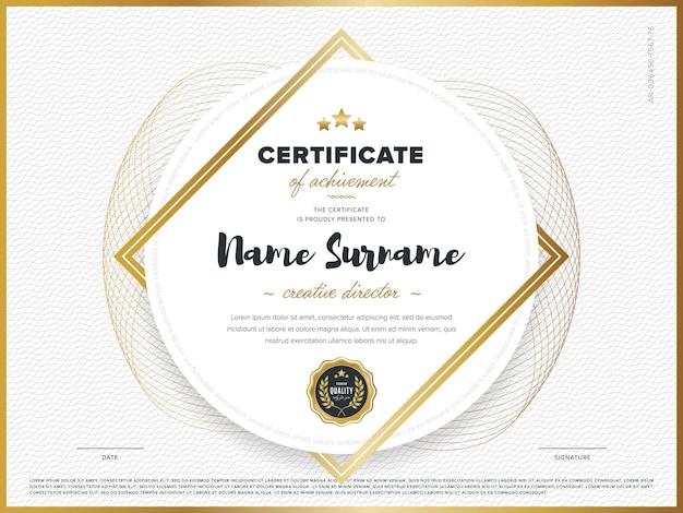 Certificaatsjabloon Premium Vector
