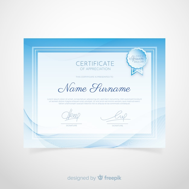 Certificaatsjabloon Gratis Vector