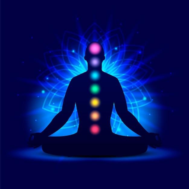Chakra's mystiek concept Gratis Vector