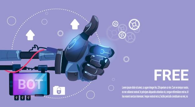 Chat bot gratis robot virtuele hulp van website of mobiele toepassingen, kunstmatige intelligentie co Premium Vector