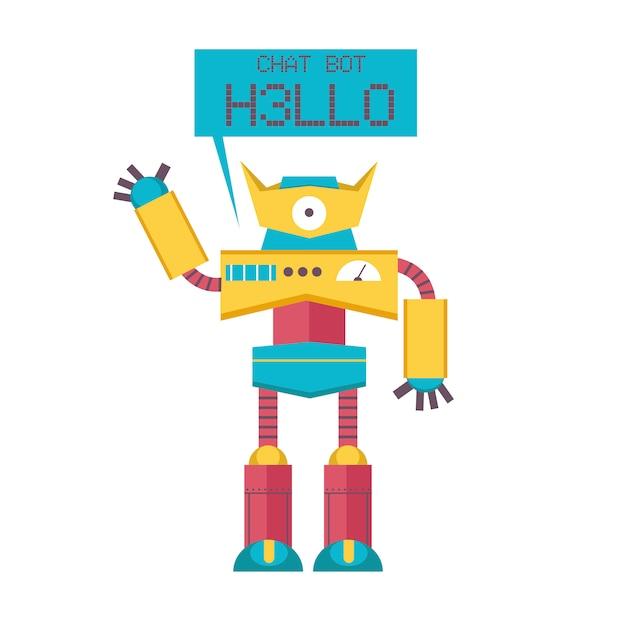 Chat bot hallo Premium Vector