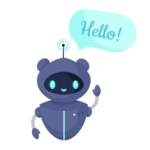 Chat bot robot geïsoleerd op wit. klantenservice. online consult. Premium Vector