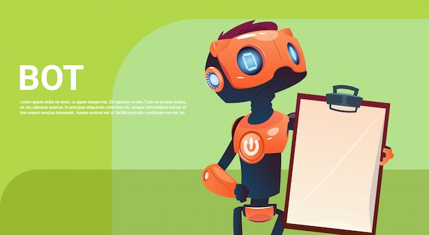 Chat bot, robot virtual assistance element of website of mobile applications, artificial intelligenc Premium Vector