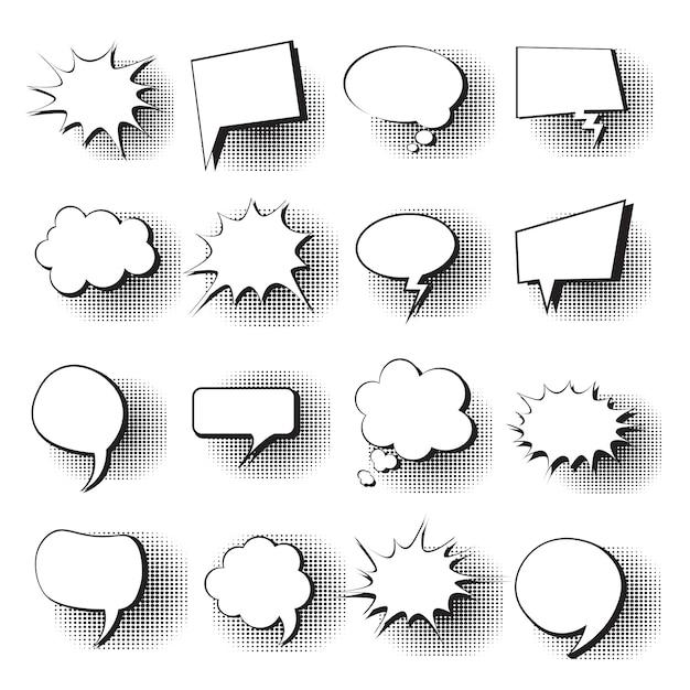 Chat bubble icon set Premium Vector