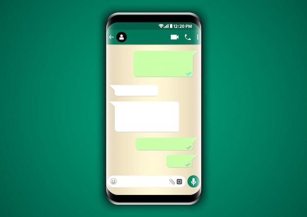 Chat sjabloon telefoon Premium Vector