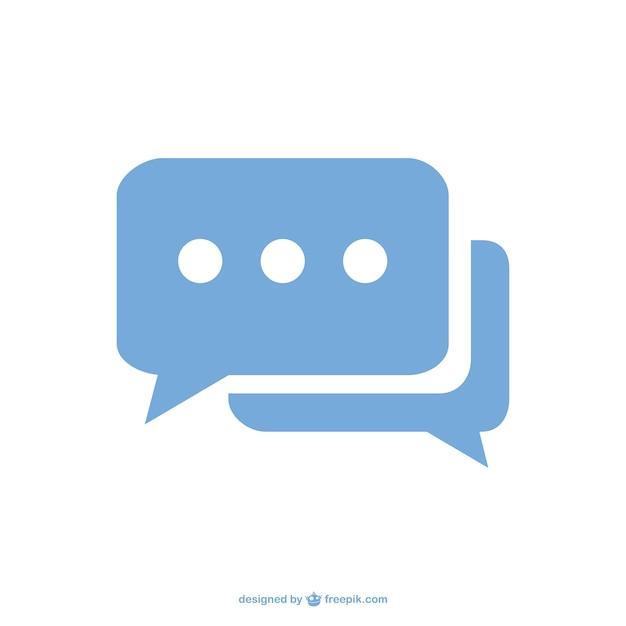 Chat tekstballon pictogram Gratis Vector
