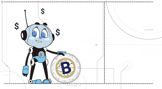 Chatbot hold bitcoin robots en crypto-valuta Premium Vector