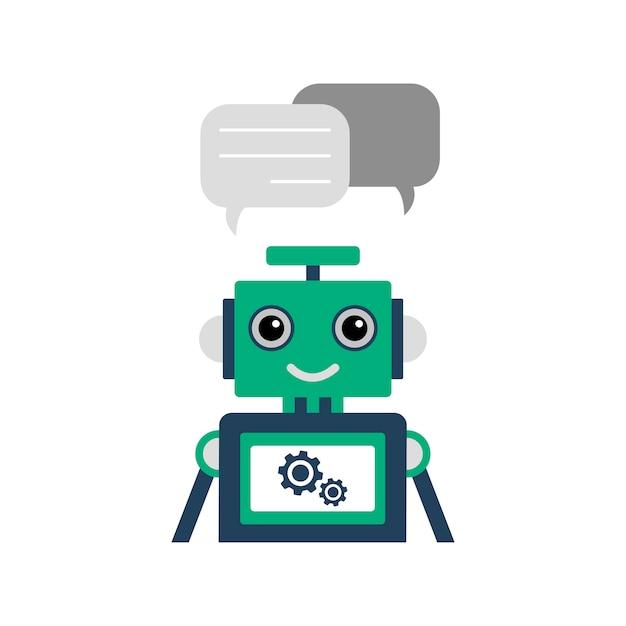 Chatbot illustratie Premium Vector