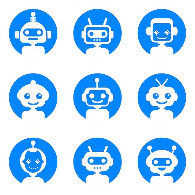 Chatbot logo collectie Premium Vector