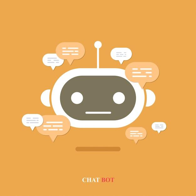 Chatbot met tekstballon Premium Vector