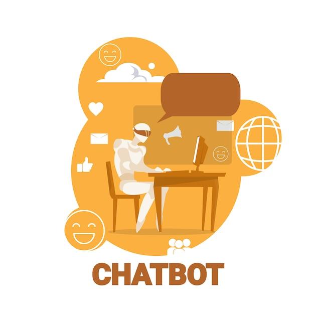 Chatbot-pictogram Premium Vector