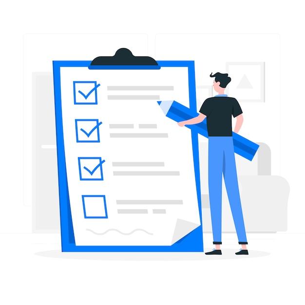 Checklist concept illustratie Gratis Vector