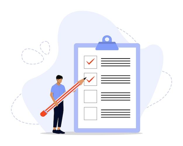 Checklist concept illustratie Premium Vector