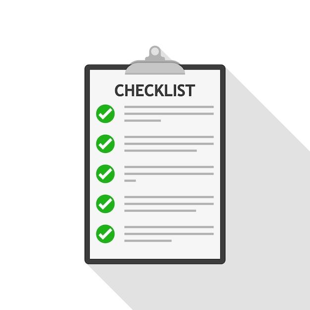 Checklist. illustratie Premium Vector
