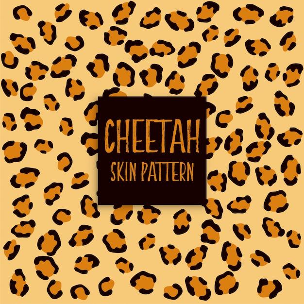 Cheetah huidtextuur print patroon Gratis Vector