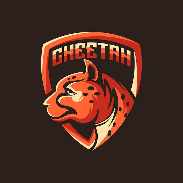 Cheetah logo vector, dier, illustratie Premium Vector