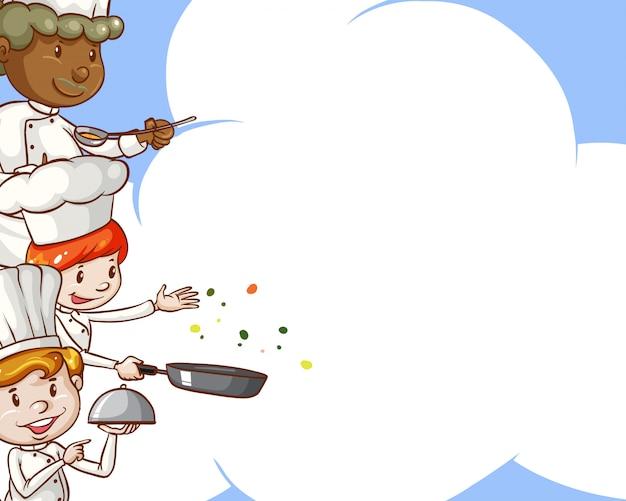Chef-koks met kopie ruimte Gratis Vector
