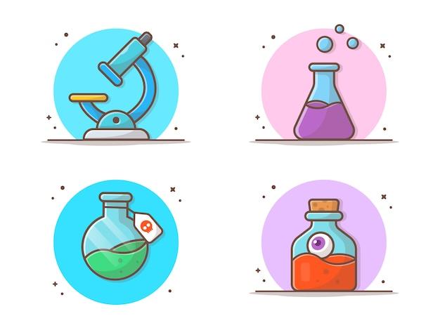 Chemie collecties Premium Vector