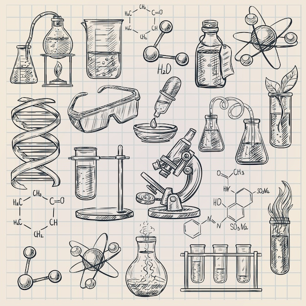 Chemie pictogram Gratis Vector