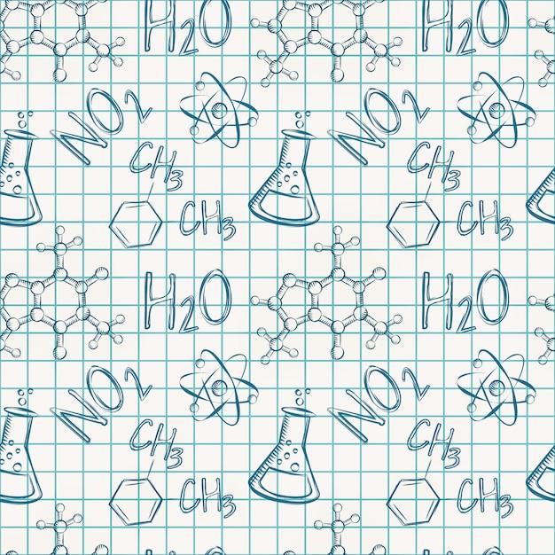 Chemisch naadloos patroon Premium Vector