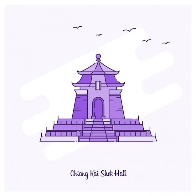 Chiang kai shek-zaal oriëntatiepunt Gratis Vector