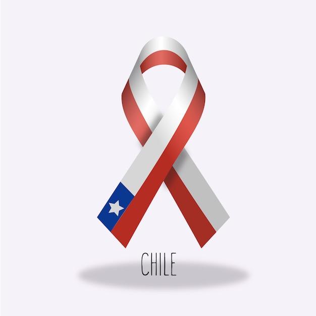 Chili vlag lint ontwerp Gratis Vector