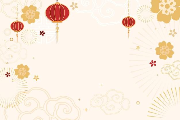Chinees nieuwjaar feest feestelijke achtergrond Gratis Vector