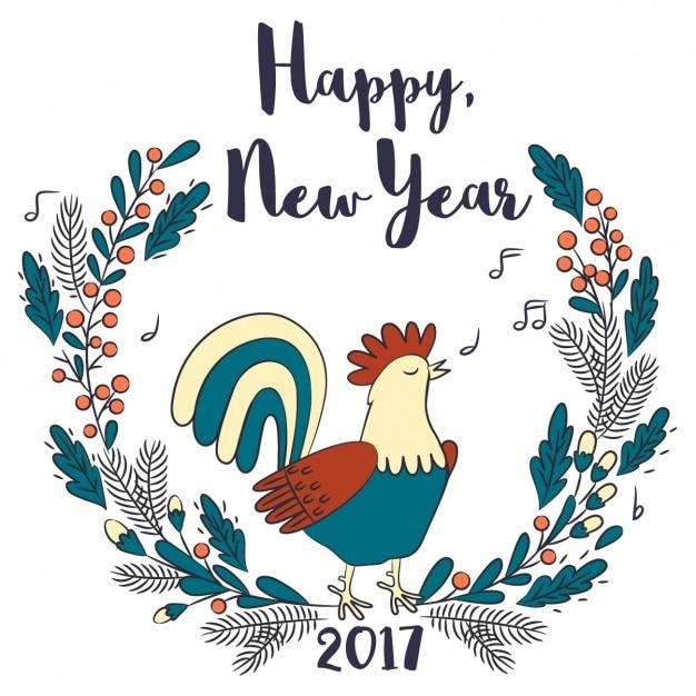 Chinese nieuwe jaar, getrokken hand Gratis Vector