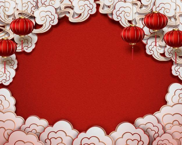 Chinese traditionele stijl achtergrond Premium Vector
