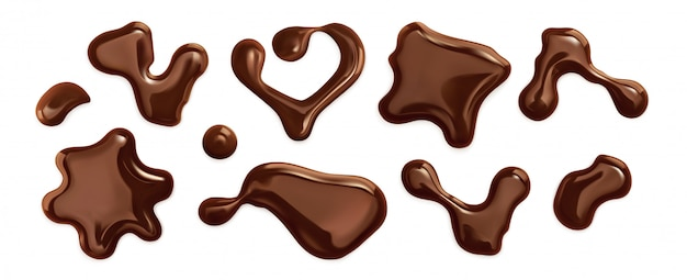 Chocolade geïsoleerd Premium Vector