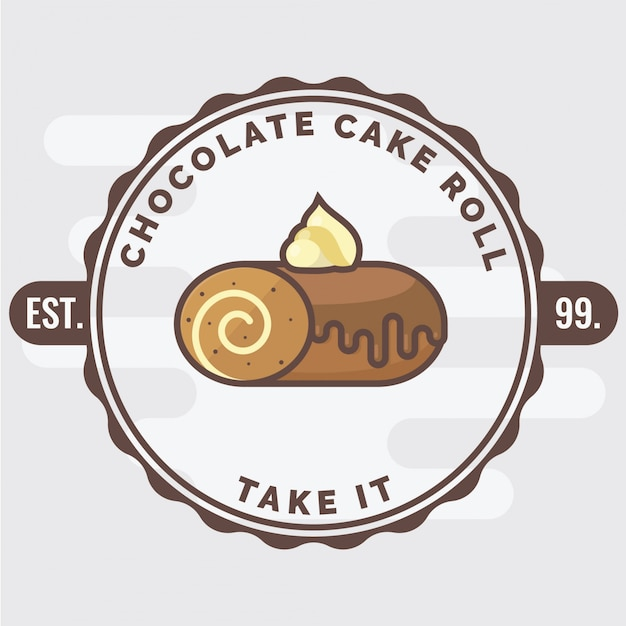 Chocoladetaartrolletje Premium Vector