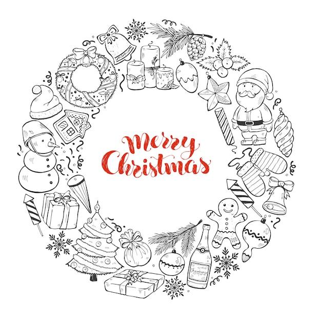 Christmas wenskaart Premium Vector