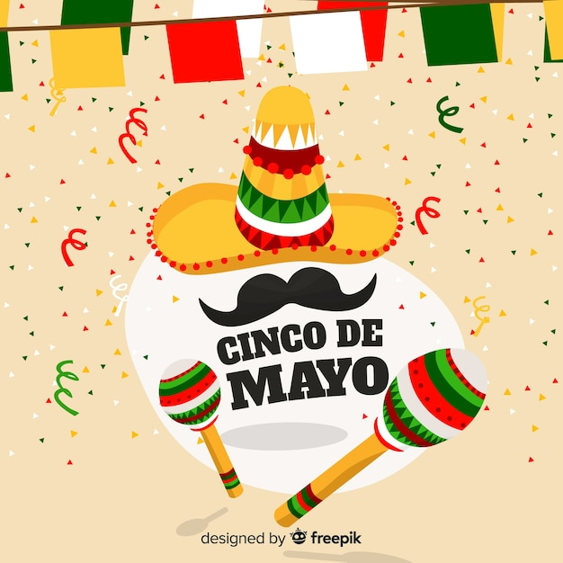 Cinco de mayo Gratis Vector