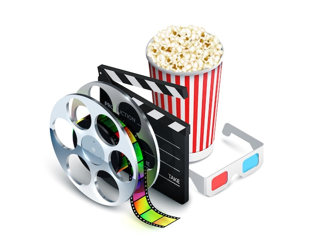 Cinema-concept Gratis Vector
