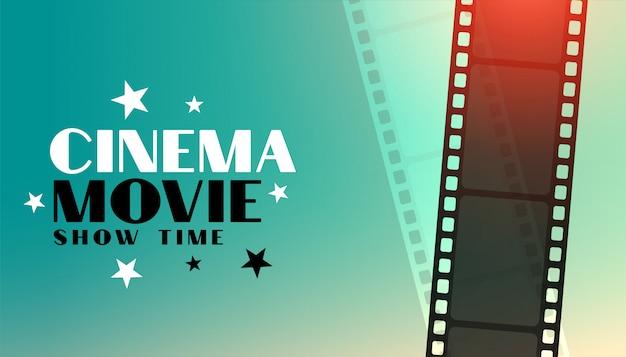 Cinema film achtergrond met film strip ontwerp Gratis Vector