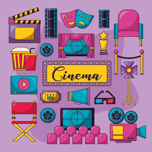 Cinema film illustratie Gratis Vector
