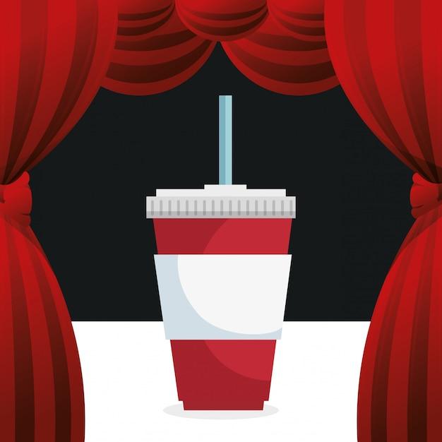 Cinema frisdrank drinken entertainment pictogram Gratis Vector