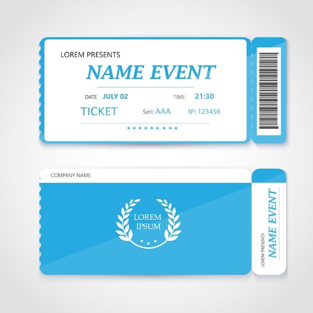 Cinema ticket card modern elementontwerp Premium Vector