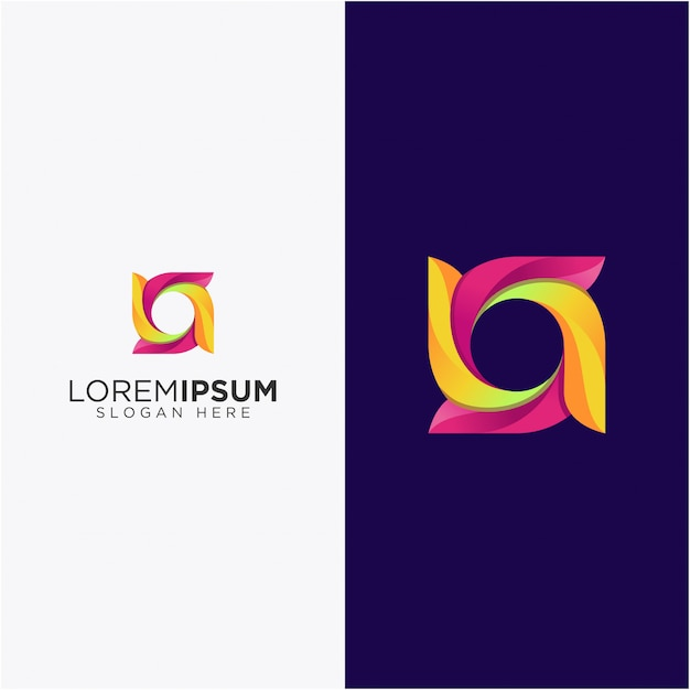 Circle awesome color Premium Vector