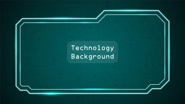 Circuittechnologieachtergrond met hi-tech digitaal gegevensverbindingssysteem en computer elektronisch design Premium Vector