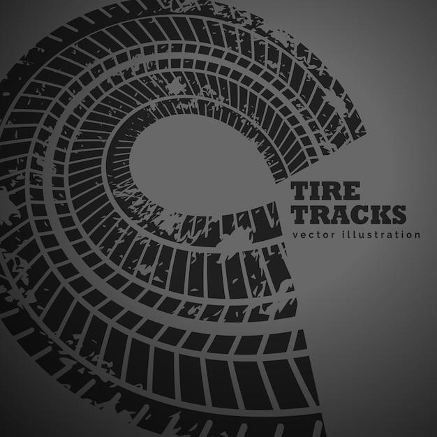 Circulaire band track op een donkere achtergrond Gratis Vector